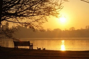 Sunrise over Ellesmere
